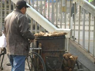 Sweet potato vendor in Bejing