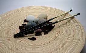 Kind of a Zen image of chop sticks